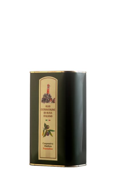 Olio Extra Vergine di Oliva Oleificio Pozzuolese lattina 1 litro OK