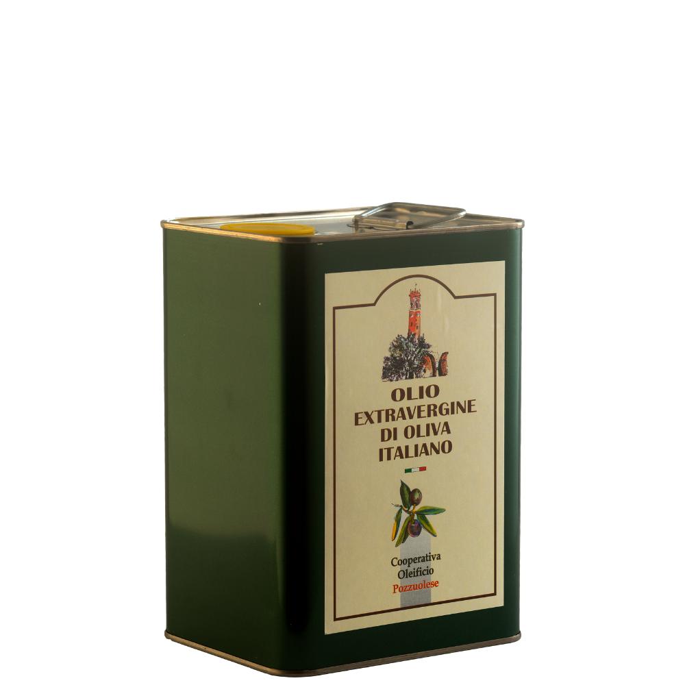Olio Extra Vergine di Oliva Oleificio Pozzuolese lattina 3 litri