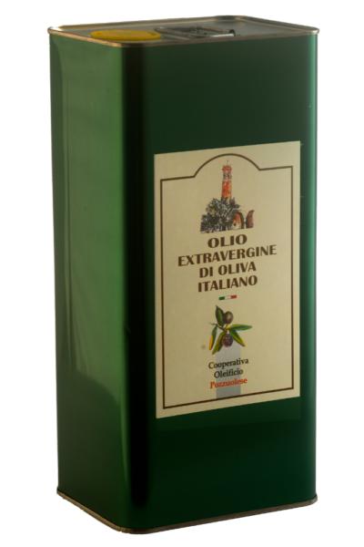 Olio Extra Vergine di Oliva Oleificio Pozzuolese lattina 5 litri