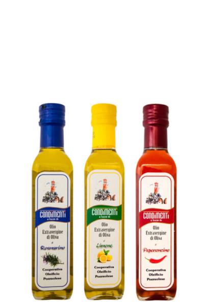 Olio Extra Vergine di Oliva aromatizzato mix bottiglie