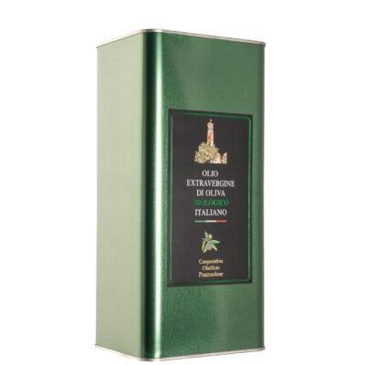 Olio Biologico Lattina 5 litri - Oleificio Pozzuolese